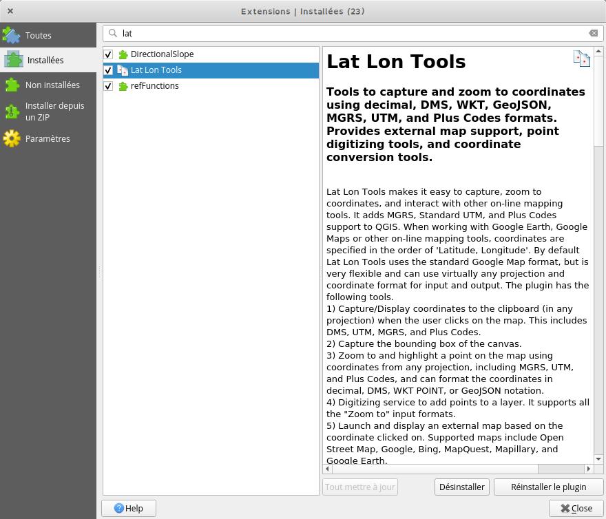 plugin Lat Lon Tools
