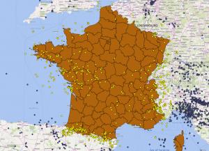 Sélection des séismes français (et alentour)