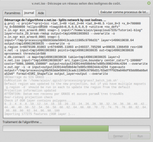 v.net.iso - Découpe un réseau selon des isolignes